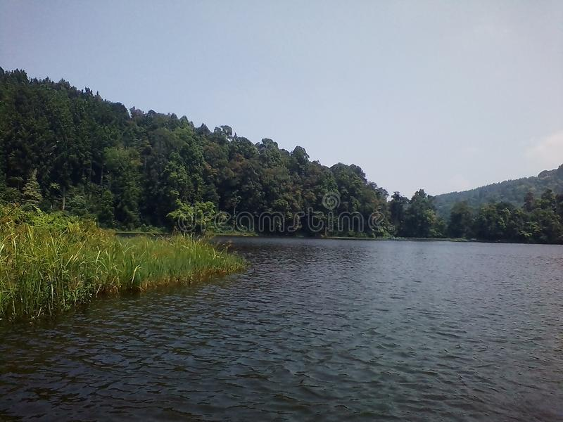 SituGunung湖 免版税图库摄影