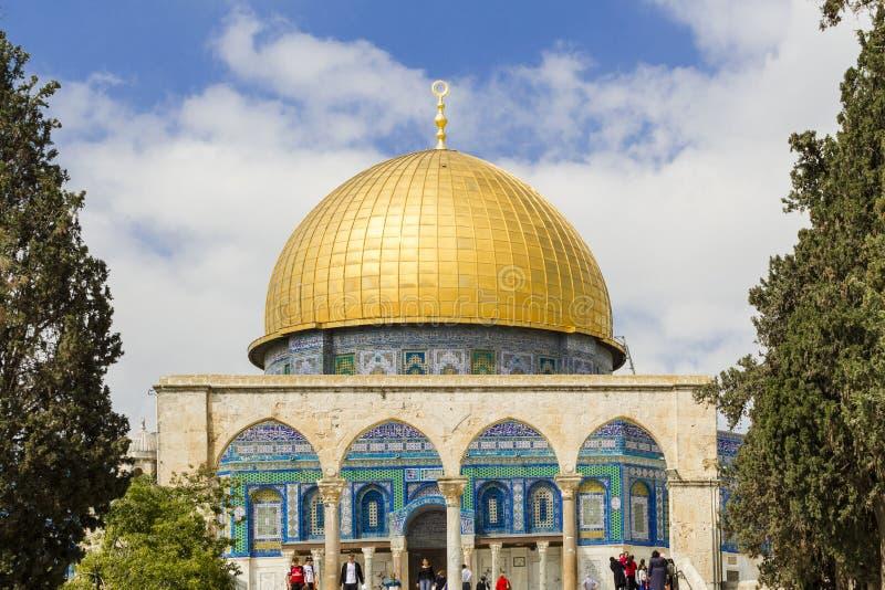 sity утеса Иерусалима купола старое стоковые изображения rf