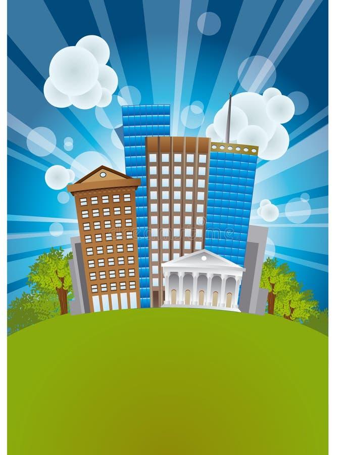 Download Sity_03 ilustração do vetor. Ilustração de escritórios - 12812951