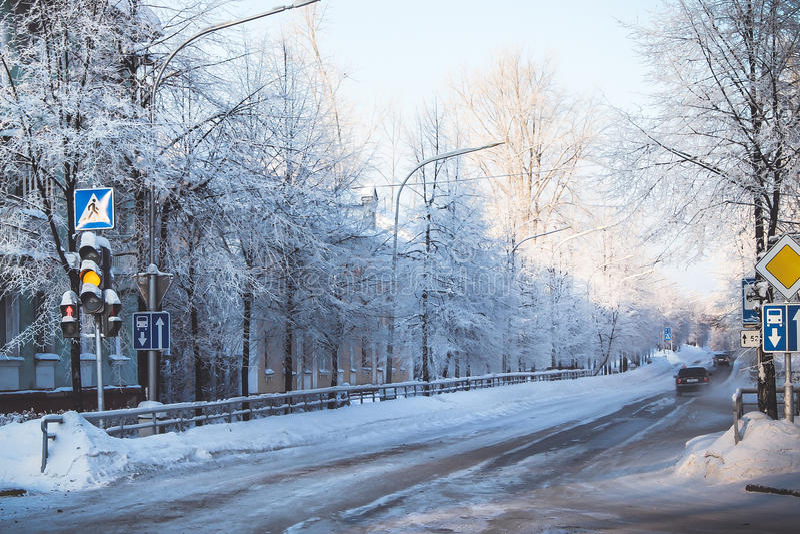 Sity d'hiver photos stock