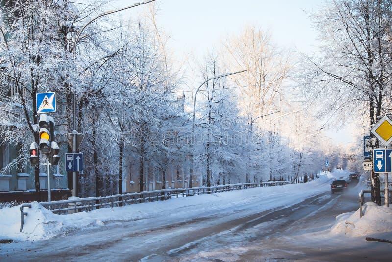 Sity del invierno fotos de archivo