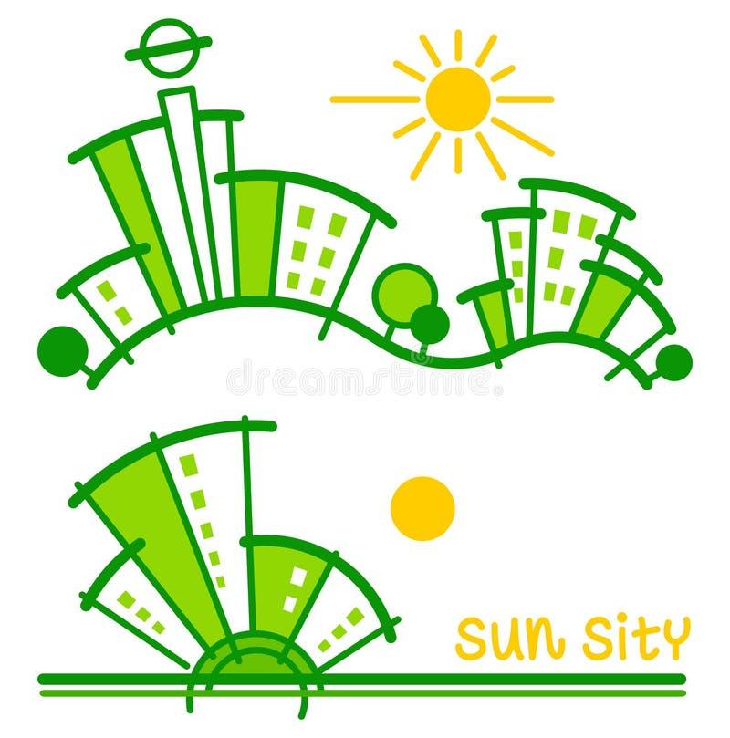 Sity zon Vector illustratie vector illustratie