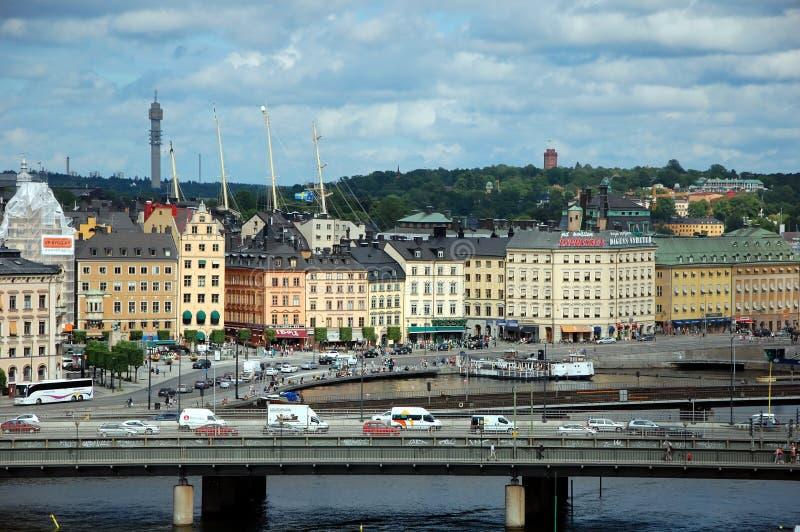 Sityscape av Stockholm fotografering för bildbyråer
