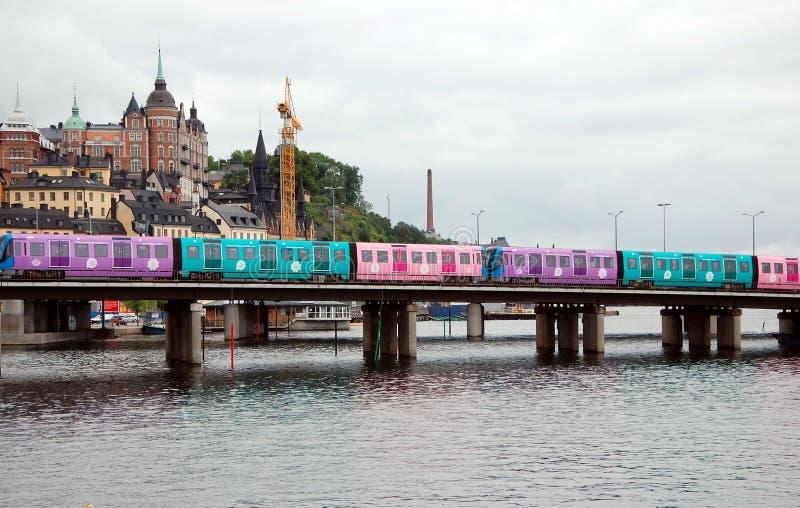 Sityscape av Stockholm arkivfoton