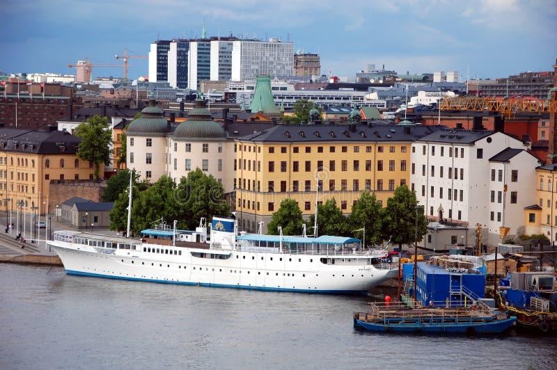 Sityscape av Stockholm royaltyfri fotografi