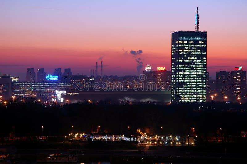 Sityscape van Belgrado royalty-vrije stock foto's