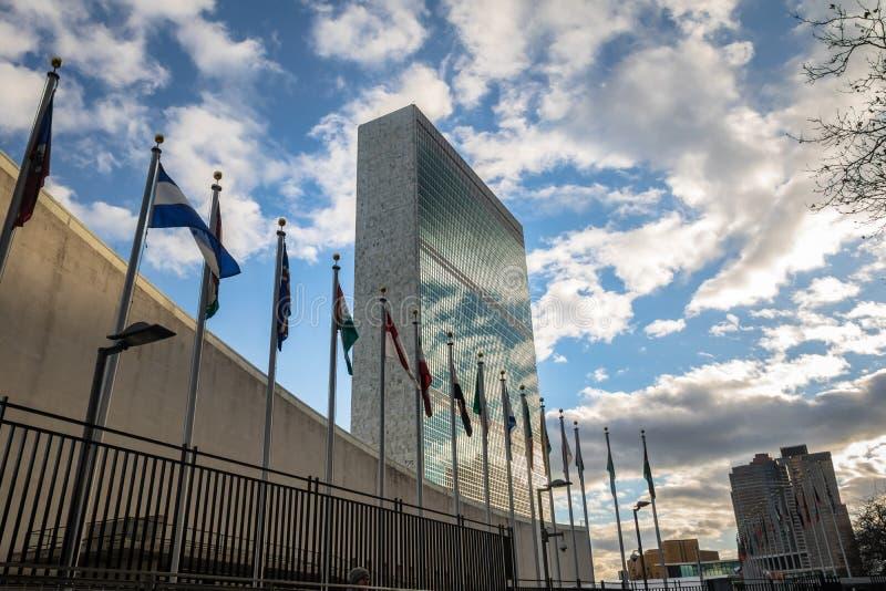 Sitz der Vereinter Nationen - New York, USA lizenzfreie stockfotografie