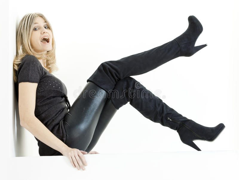 Sitzende Frau stockfotos