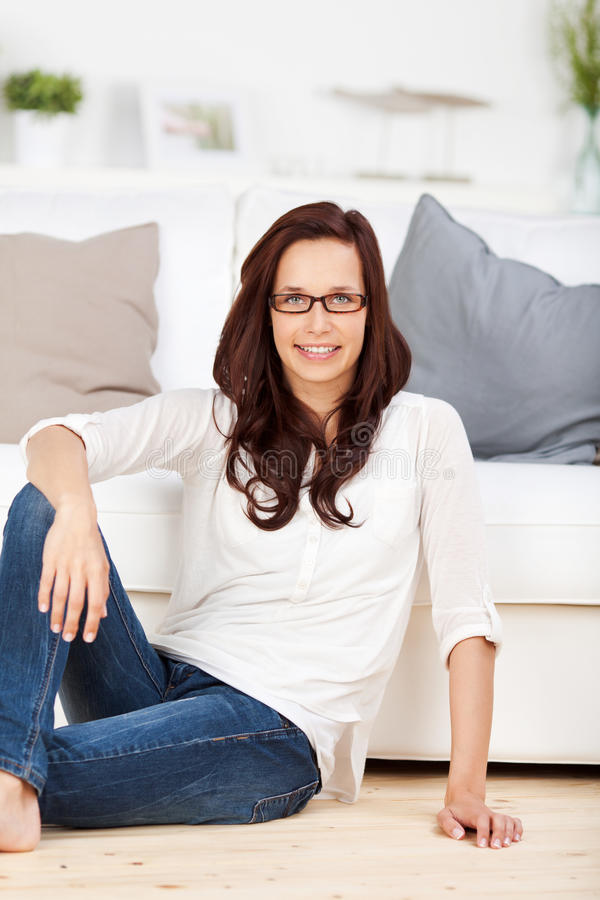 Sitzende Frau stockbilder