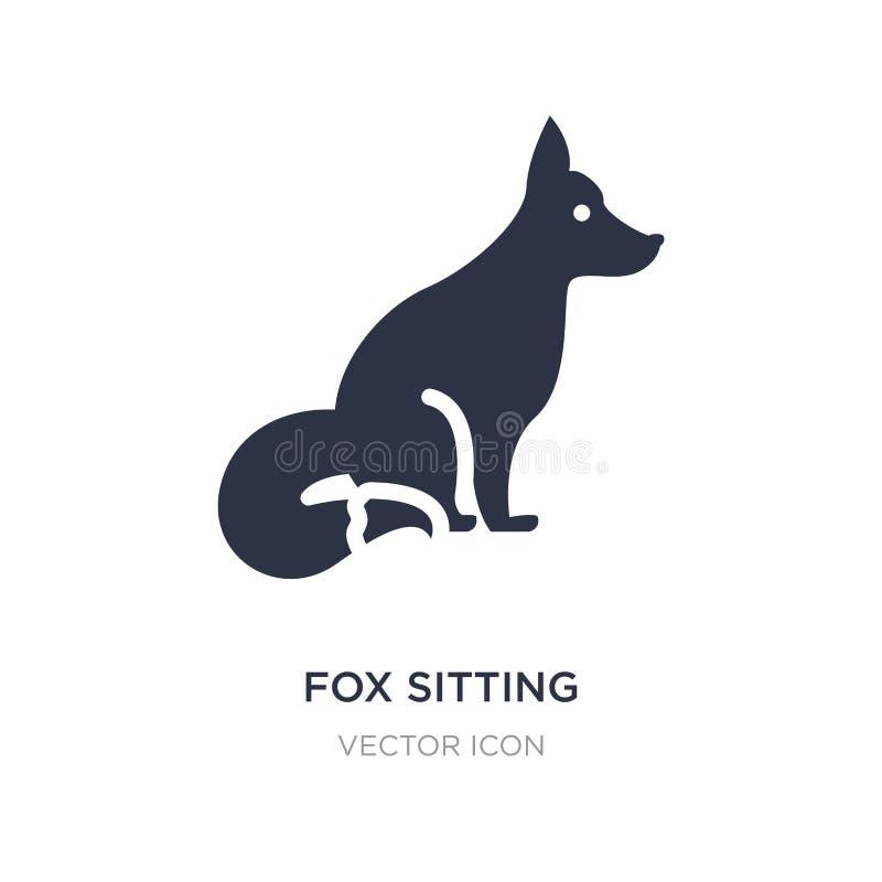 sitzende Ikone des Fuchses auf weißem Hintergrund Einfache Elementillustration vom Tierkonzept stock abbildung