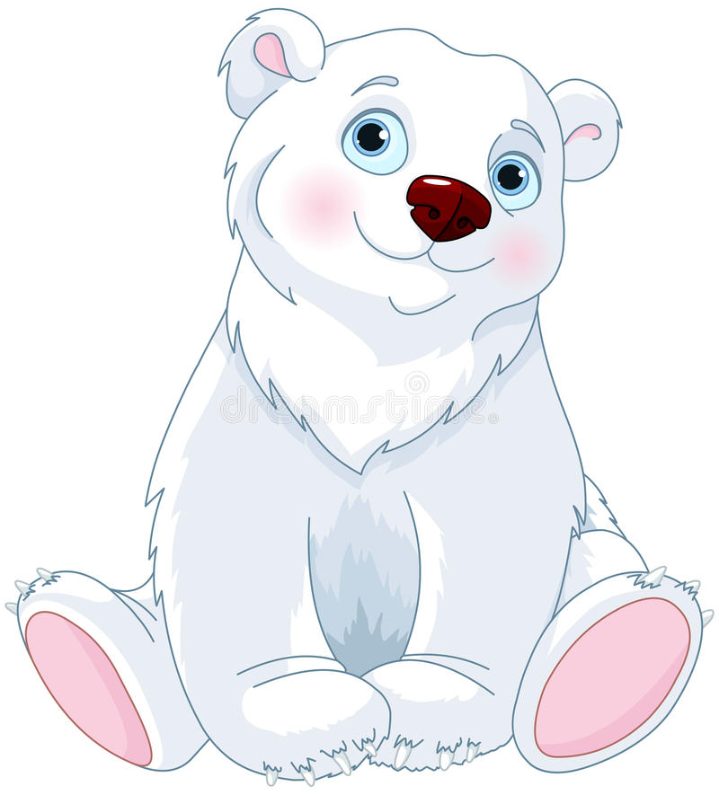 Sitzender Eisbär lizenzfreie abbildung