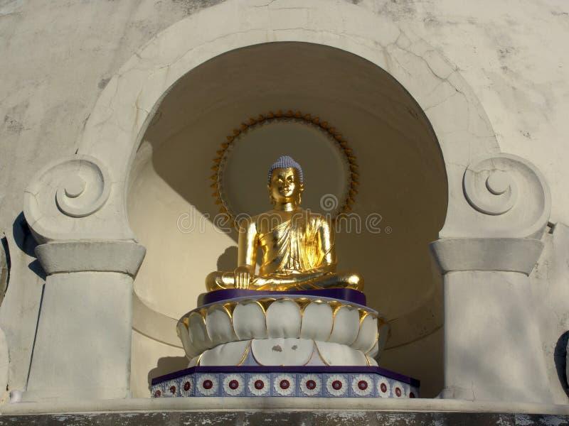 Sitzender Goldener Buddha Stockfoto
