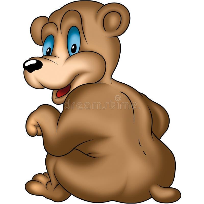 Sitzender und lächelnder Bär stock abbildung