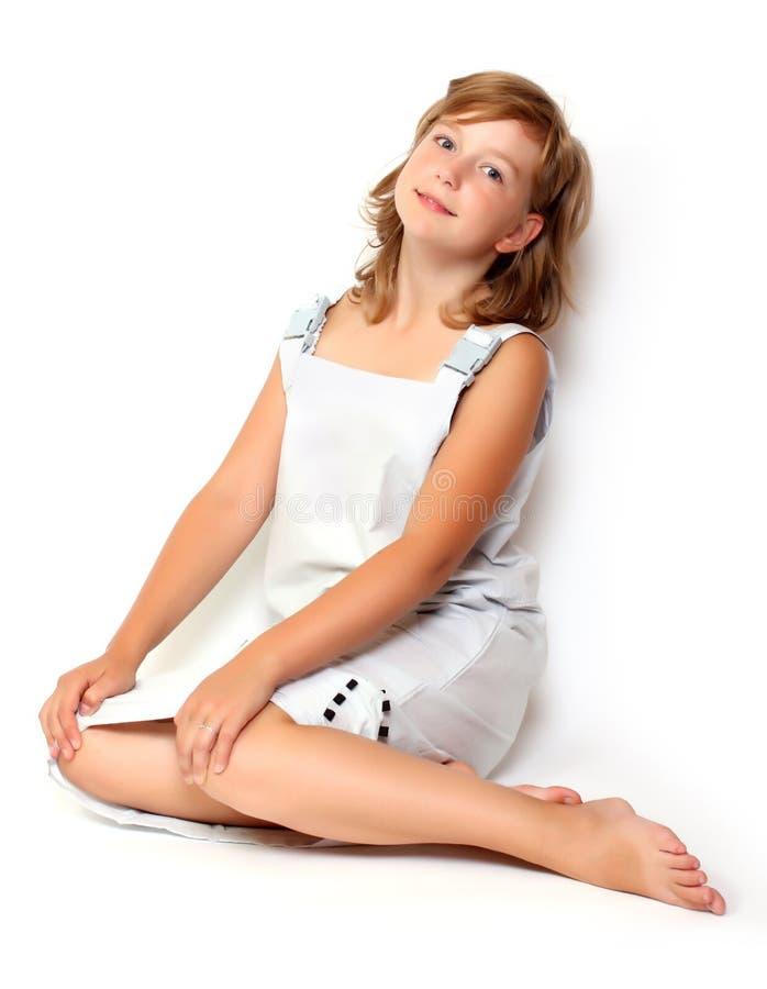 Sitzendes Mädchen stockfotos
