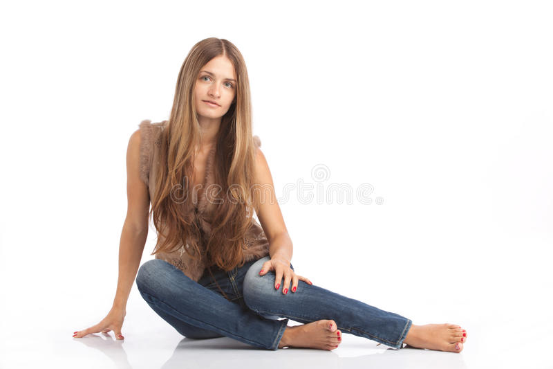 Sitzendes Mädchen lizenzfreies stockbild