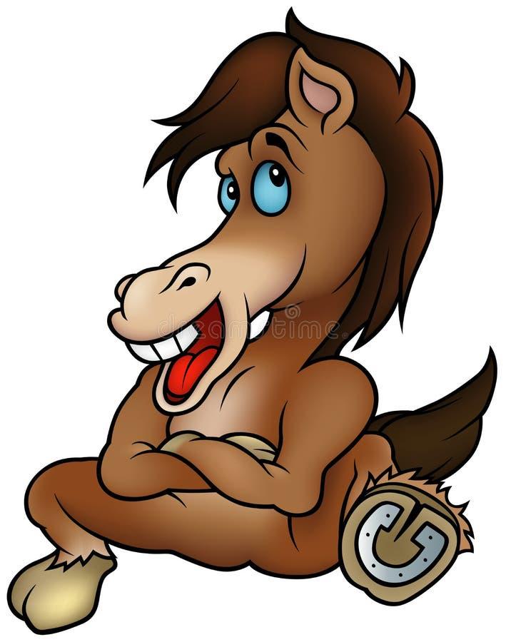 Sitzendes Pferd vektor abbildung