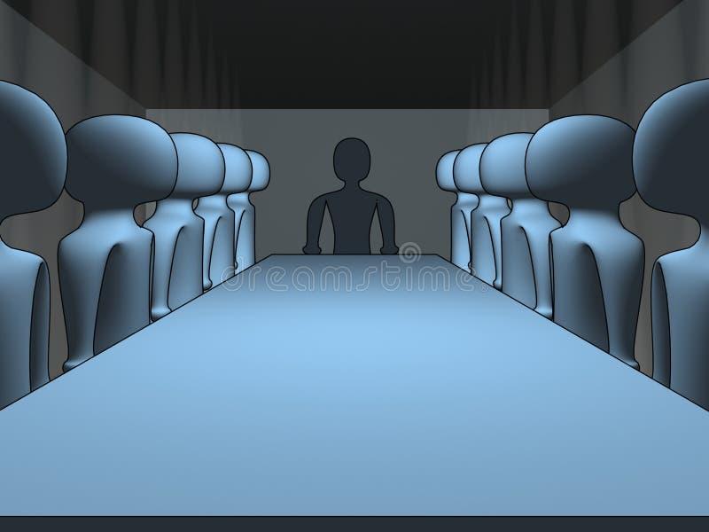 Sitzung 3d stock abbildung