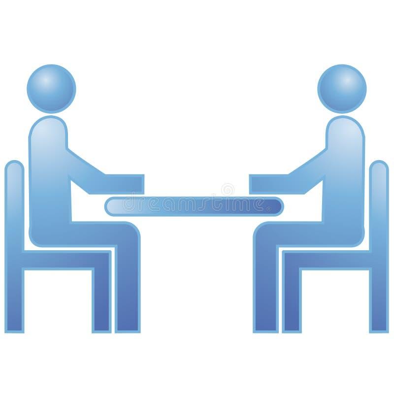 Sitzung lizenzfreie abbildung