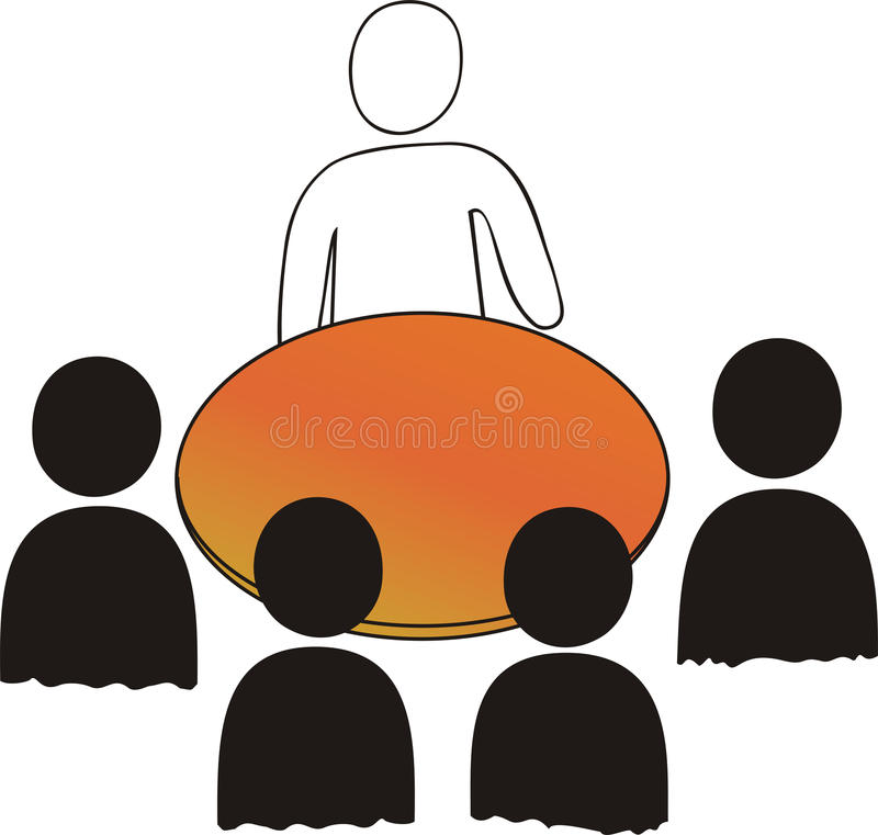Sitzung: 5 Personen vektor abbildung