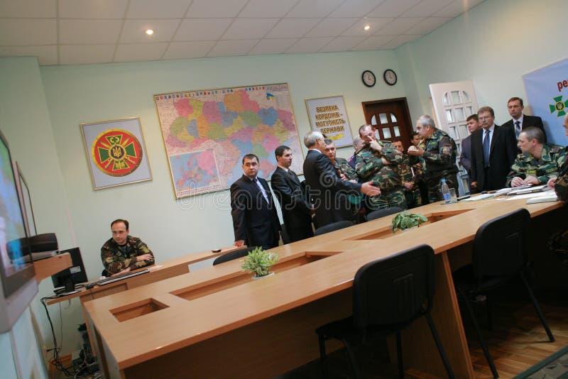 Sitzung der Militärführung lizenzfreie stockfotografie
