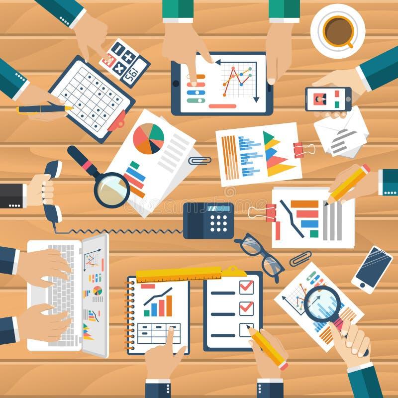 Sitzung von Geschäftsleuten für Unternehmensplanung vektor abbildung
