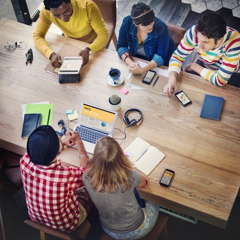 Sitzungs-Diskussions-Ideen-Kommunikations-Unternehmenskonzept lizenzfreie stockfotos