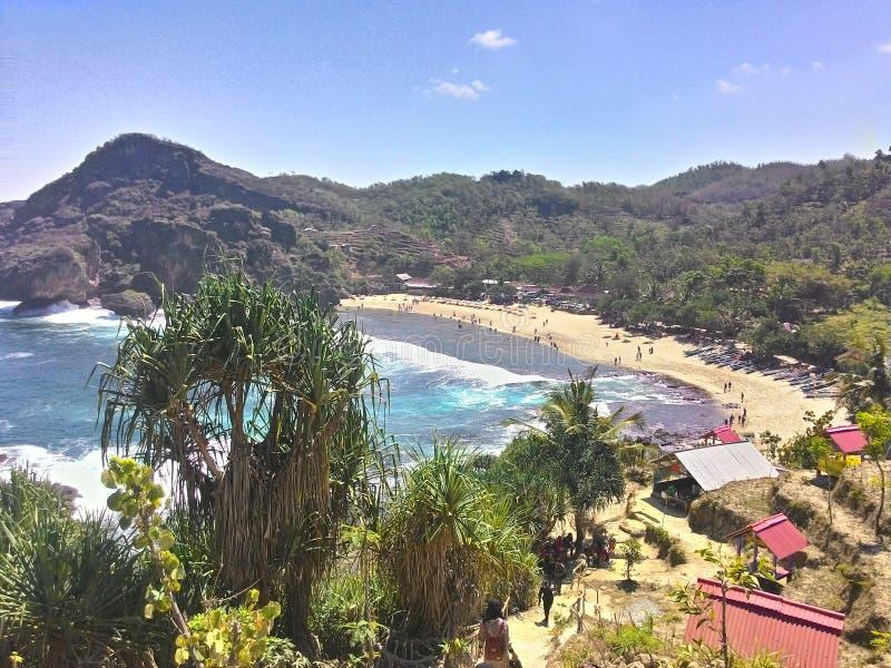 Siung Beach royalty free stock photo