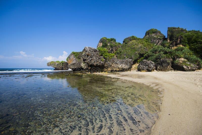 Siungs-Strand, Jogjakarta, Indonesien stockbild