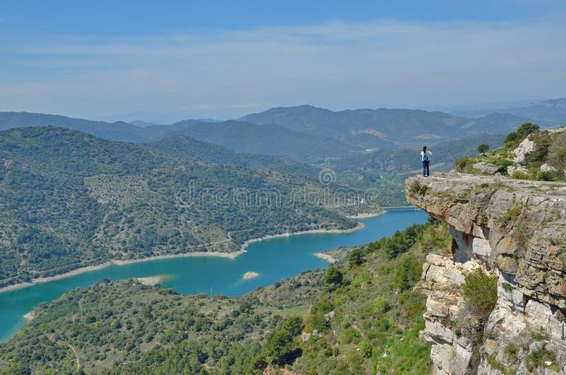 Siurana ` s otoczenia w Prades górach zdjęcia royalty free