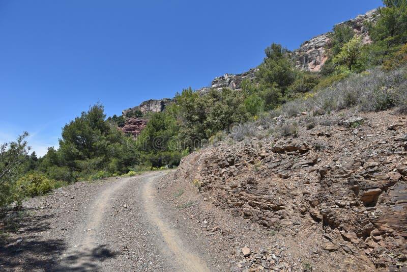 Siurana ` s otoczenia w Prades górach obrazy stock