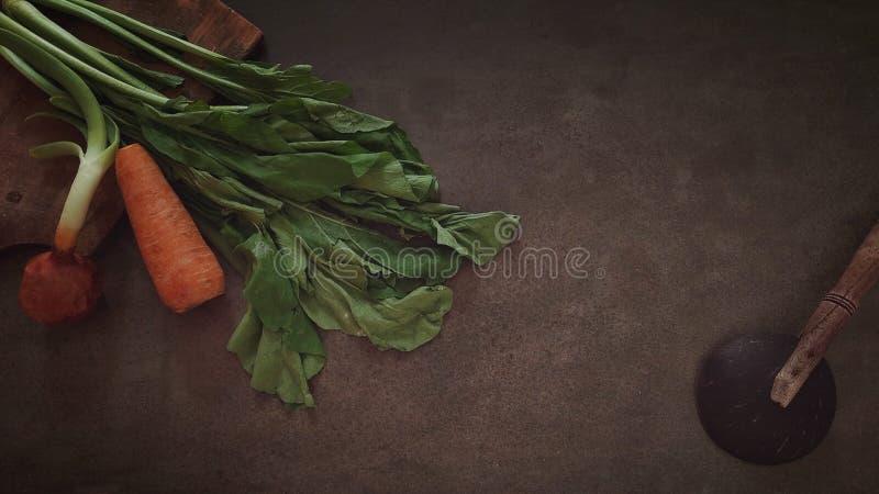 Siviera del riso dell'Indonesia e la verdura immagine stock