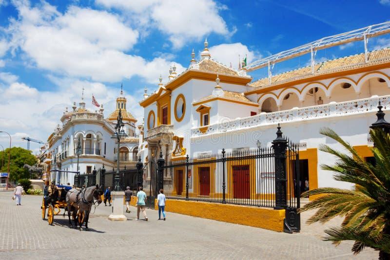 Siviglia, Andalusia, vecchia plaza famosa de toros fotografia stock libera da diritti