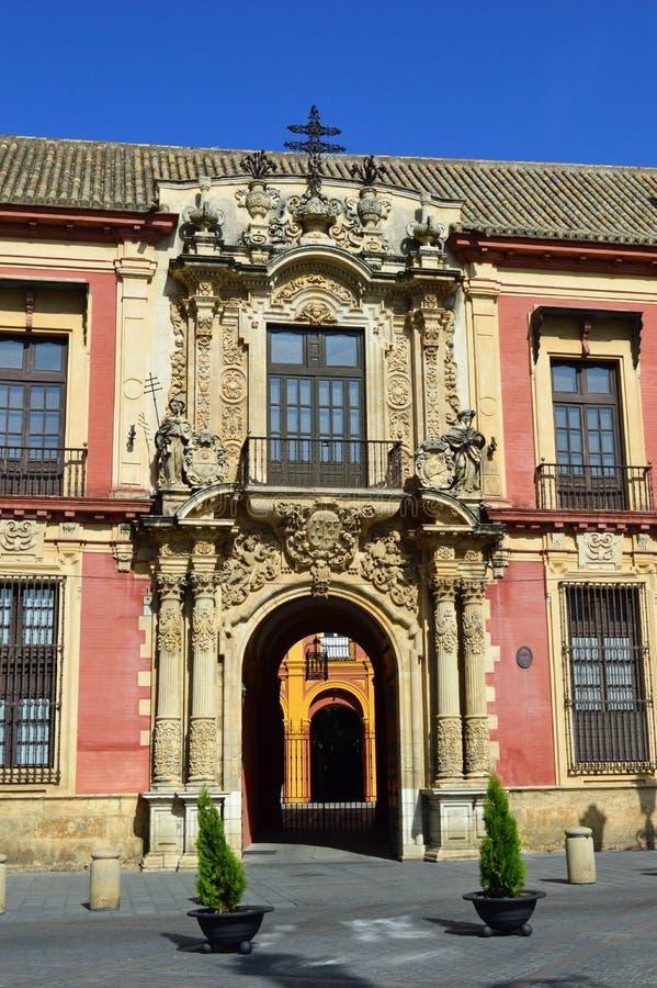Siviglia - palazzo degli arcivescovi fotografie stock libere da diritti
