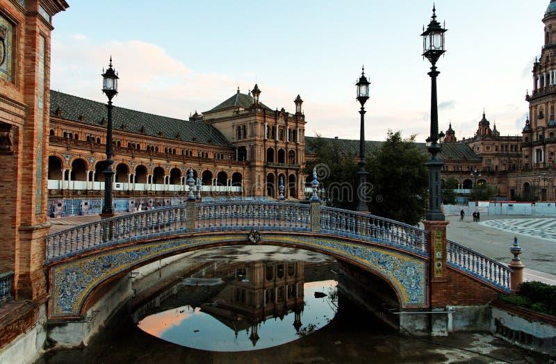 Siviglia, Plaza de Espana immagini stock libere da diritti