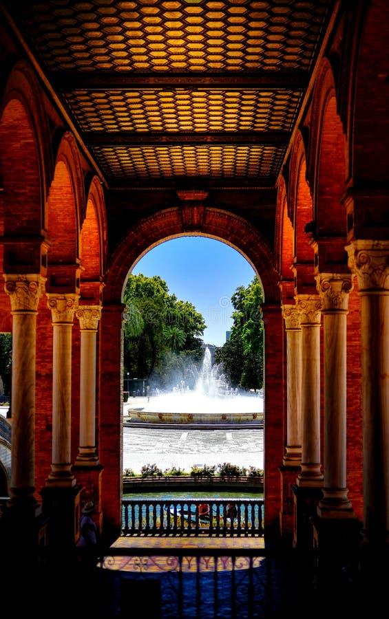 Siviglia, Plaza de Espana fotografia stock