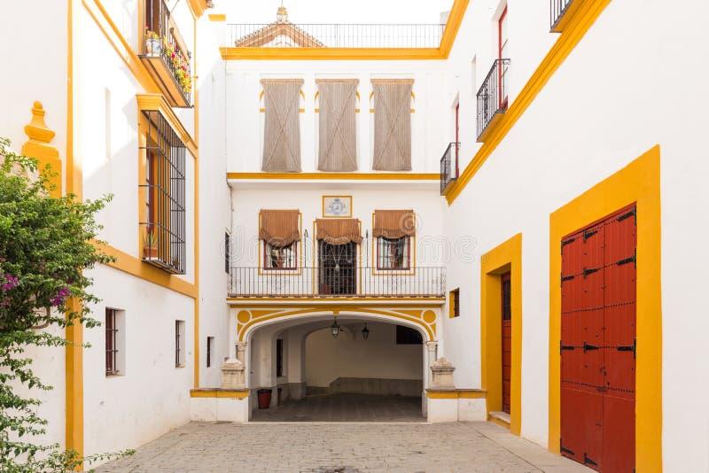Siviglia - plaza de toros Toros reali de Sevilla della plaza dell'arena di Siviglia Maestranza in Andalusia, Spagna immagine stock