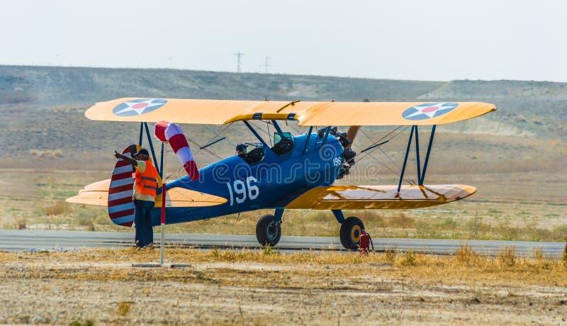 Sivrihisar Eskisehir, Turkiet - September 17, 2017: Sivrihisar Airshows (SHG), liten flyghändelse som visas i SUSHM royaltyfria bilder