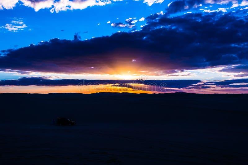 Siwa-Wüsten-Sonnenuntergang stockbild