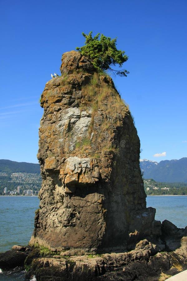 Siwash Rock, Vancouver stock photo