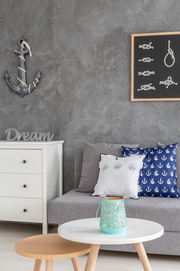 Siwieje domowego wnętrze zdjęcia stock