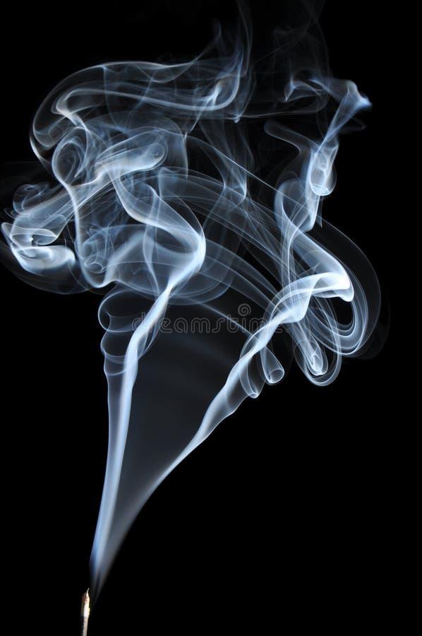 Siwieje dym na czarnym tle fotografia royalty free