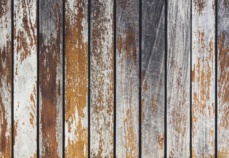 Siwieje i pomarańczowy tło z drewnianej tekstury horyzontalnym odgórnym widokiem odizolowywającym, rocznika ciemny drewniany tło, zdjęcie royalty free
