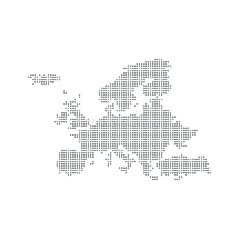 Siwieje mapę Europa W kropce również zwrócić corel ilustracji wektora ilustracja wektor