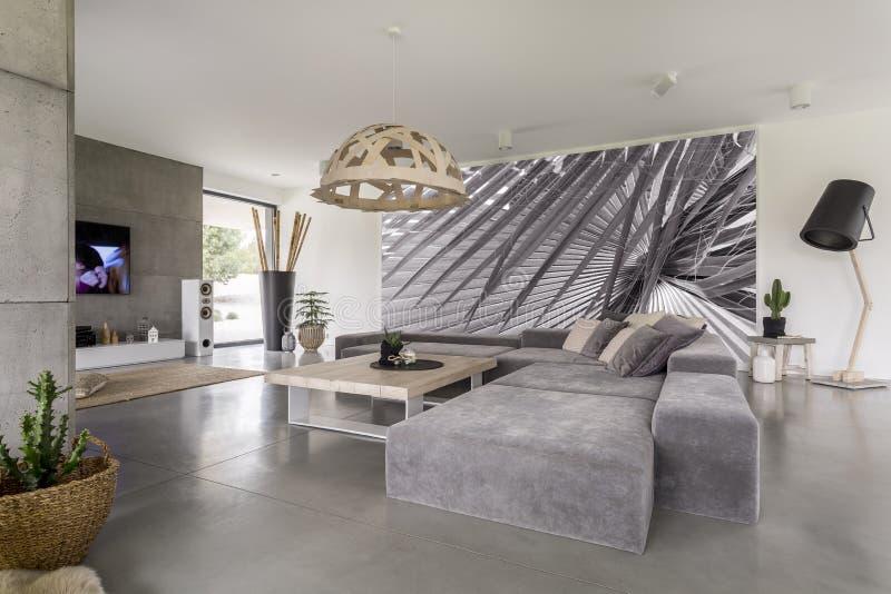 Siwieje narożnikową kanapę zdjęcia royalty free