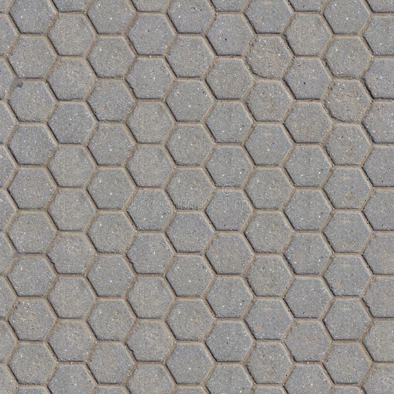Siwieje Obliczającego bruk z Honeycombs fotografia stock