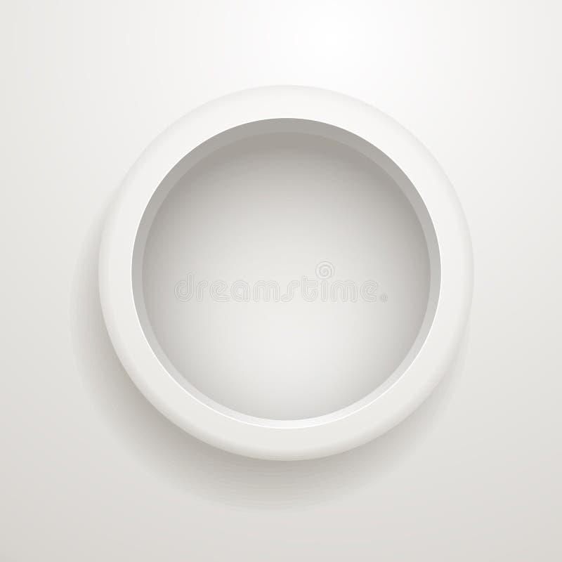 Siwieje okrąg. Szablon dla teksta ilustracja wektor
