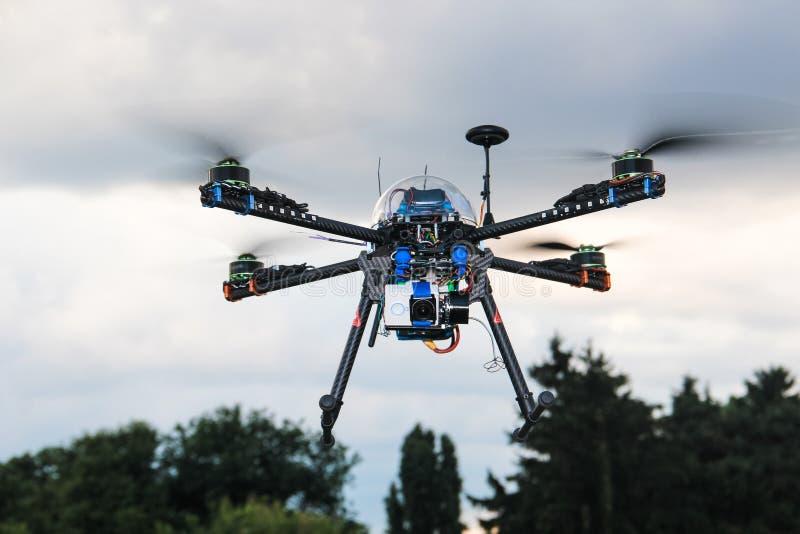 Black drone filming stock photos