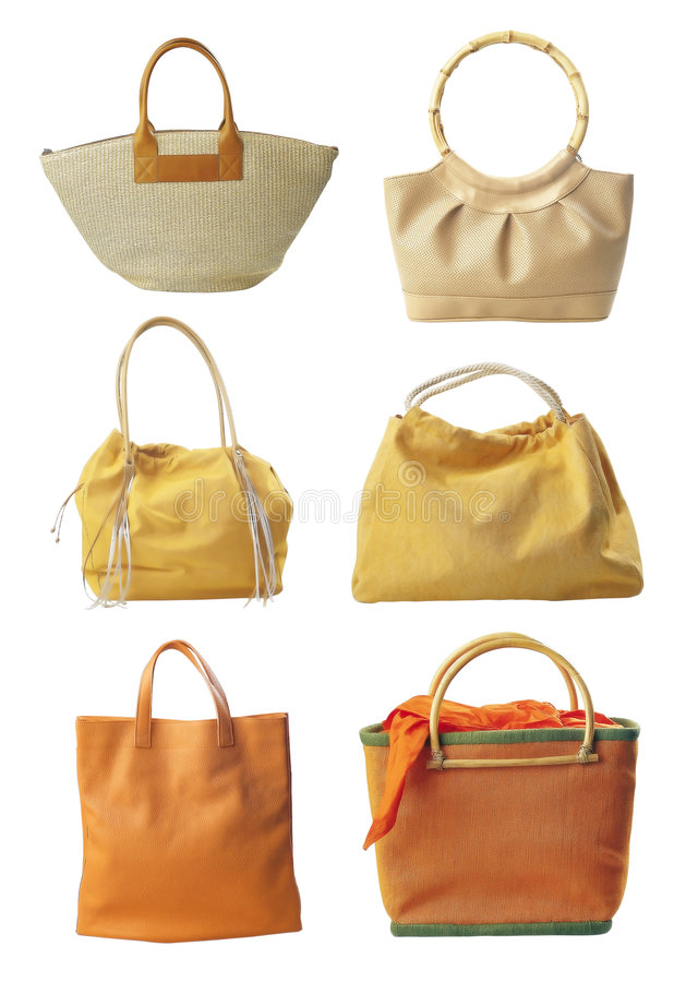 Six bags stock photo