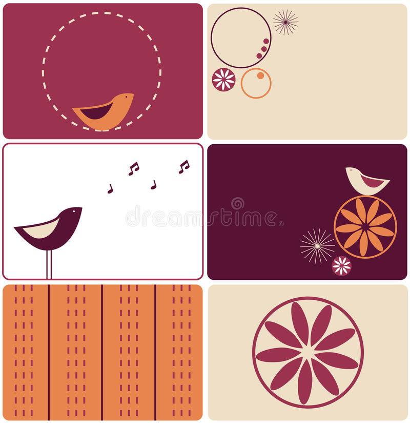 Download Six birds designs stock vector. Illustration of design - 7248695