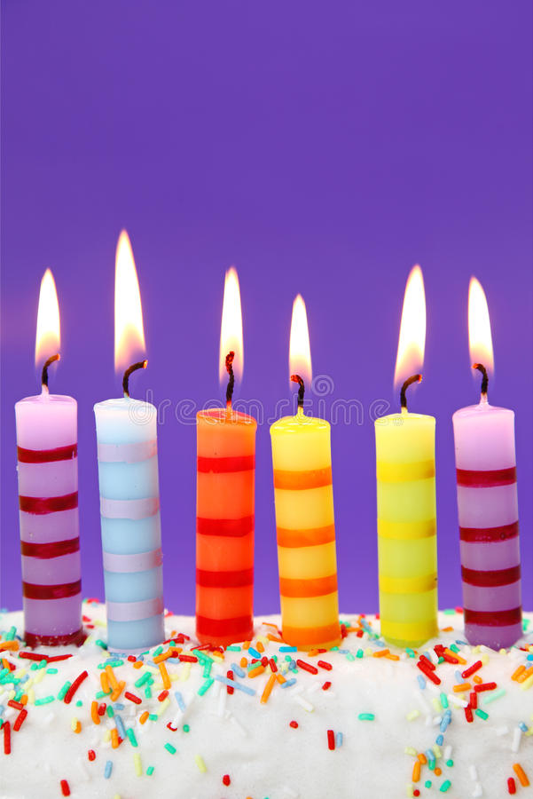 Download Six birthday candles stock photo. Image of happy, dessert - 11189632